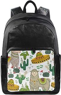 Lustiger mexikanischer Rucksack mit süßem Alpaka-Llama-Kaktus-Schultertasche, Wandern, Camping, Tagesrucksack, Schule, Rei...