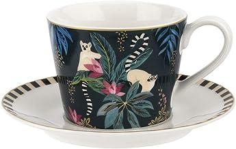 Portmeirion Sara Miller Tahiti Cup and Saucer, Lemur, Ceramic