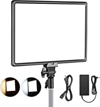 Neewer Super Slim LED Video Light Soft Lighting 40W 3200K-5600K CRI95+ Dimmable LED Panel with LCD Display, Camera Camcorder Photo Light Compatible with Sony NP-F Series Battery (Battery Not Included)
