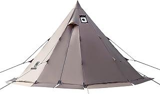 OneTigris Tent tipi tent voor 4-6 personen piramidetent met tentstang 4 jaar campingtent 3000 mm waterkolom voor outdoor, ...
