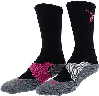 Nike Men's Hyper Elite Cushioned Kay Yow Basketball Crew Socks