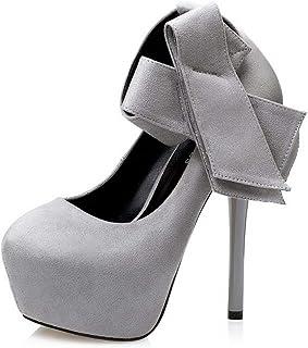 Ying-xinguang Shoes Fashion Sexy Waterproof Platform was Thin Pointed Bow Single Shoes Wedding Shoes Women's High-Heeled Comfortable