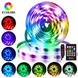 LED Streifen 3M, Hually USB LED Strip Wasserdicht LED Band RGB mit Fernbedienung, LED Leiste...