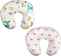 ALVABABY 2pack Pillow Cover Soft and Comfortable for Breastfeeding Moms Soft Fabric Fits Snug On Infant Nursing Pillows to...