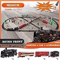 電車のおもちゃRailsのダイナミックスチームトレイン鉄道模型セットProfissional Autoramaカーサーキット子供のおもちゃを鋳造午前1時43スケールダイ (色 : C)