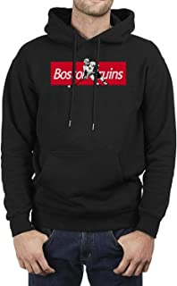 Men's Hooded Sweatshirt Hockey Kangaroo Pockets Pullover Hoodies Vintage Sweatshirts