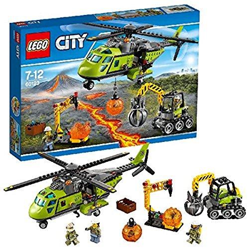 LEGO City 60123 - Vulkan-Versorgungshelikopter, Vulkanforscher-Bauset