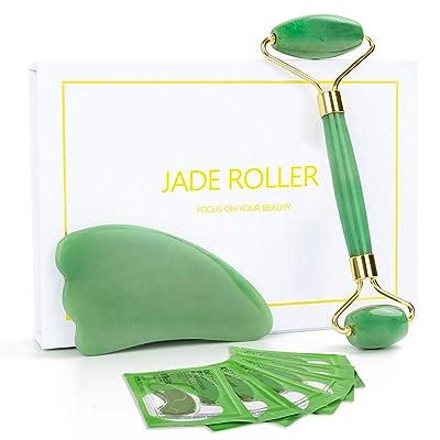 MASWATER Jade Face Roller,Jade Facial Roller  G...