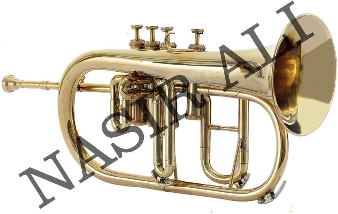 NASIR ALI Flugel Quality inspection Horn Valve Bb BRASS Philadelphia Mall 3