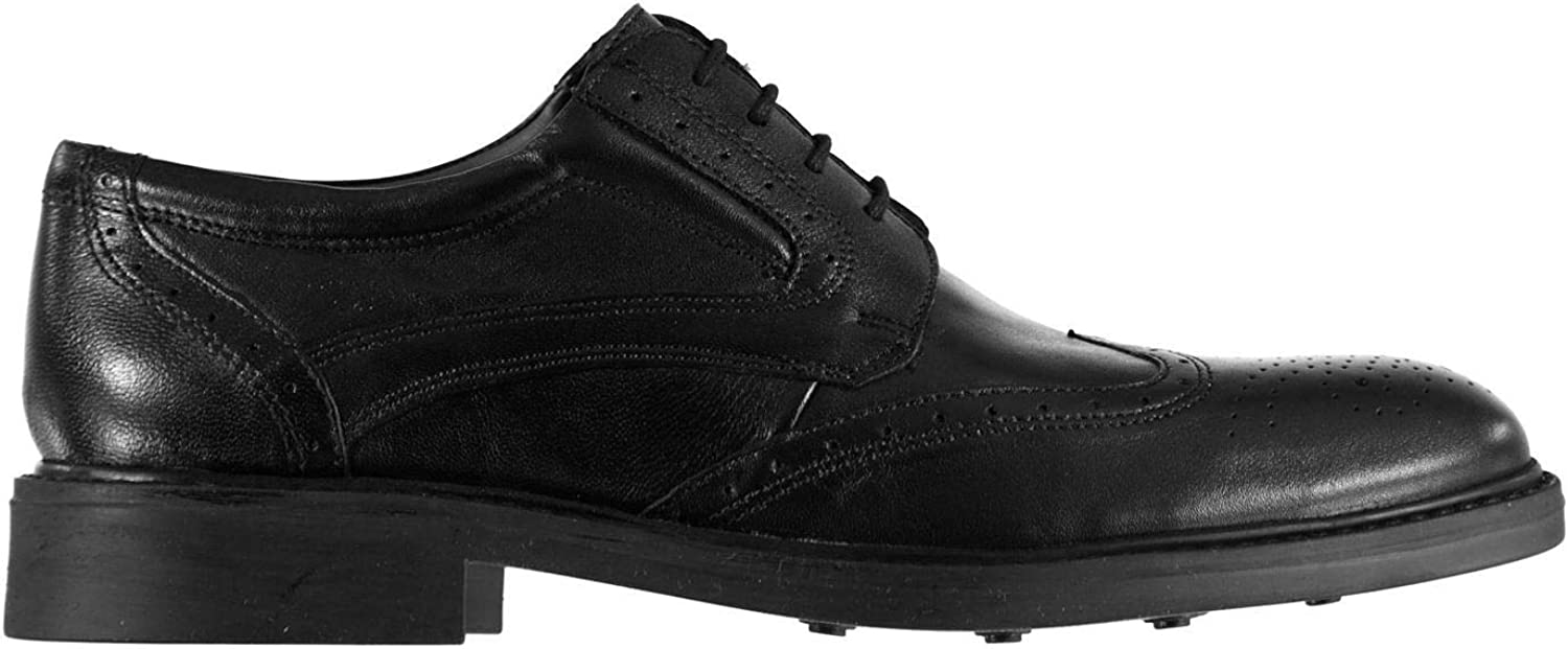Kangol Oakwell Brogues shoes Mens Black Lace Up Formal Footwear