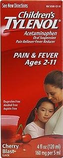 TYLENOL Children`s Pain & Fever Relief, Cherry Blast Liquid, 4 oz (Pack of 4)