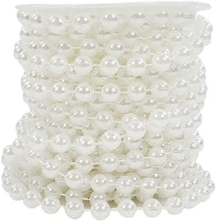 10m Perlengirlande Schleifenband Perlen weiß Hochzeit Perlen Perle 0,75 €//m