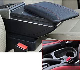 SLONG for Hyundai Solaris 2/Hyundai Accent/Verna 17-18 Car Armrest with Cup Holder Removable Ashtray Center Console Accessories Black
