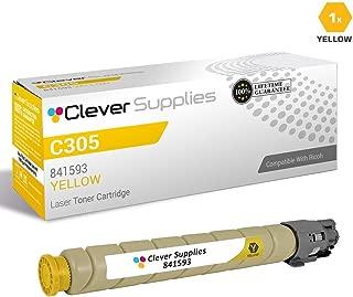 CS Compatible Toner Cartridge Replacement for Ricoh C305 841593 Yellow Color Laser Aficio MP C305 Aficio MP C305SPF Yellow