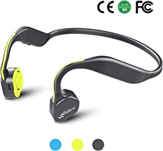 Bone Conduction Headphones, Bluetooth 5.0 Vidonn F1 Titanium Open Ear Wireless Sports Headset(Grey-Yellow)