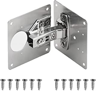 Sponsored Ad – AGIGU Cabinet Hinge Repair Plate - Stainless Steel Kitchen Cabinet Brackets with Fixing Screw, Concealed Hi...
