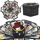 WisFox Explosion Box, Creativo Fai Da te a Sorpresa Esplosione Regalo Scatola Amore Memoria, Scrapbooking Photo Album Gift Box per il Compleanno di San Valentino Anniversary Wedding Festival di Natale