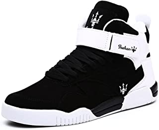 Men's Fashion High Top Leather Street Sneakers Sports Casual Shoes