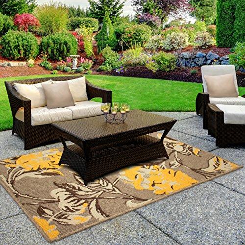 Laura Ashley Hydrangea 4 x 6' Indoor/Outdoor Rug