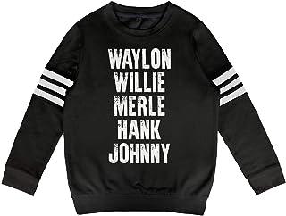 MUPTQWIU Teen Girls Portrait Johnny Hallyday Signature Casual Style Walk White Hoodie