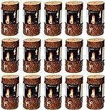 dobar 35133 Accessoires combustibles, cheminées de Bois atmosphérique feu Suèdois Baumfackel, 15 pièces, diamètre 11-15cm, 20cm, Brun