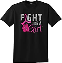 fight like a girl shirt with boxing gloves
