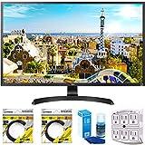 LG 32' 3840x2160 Ultra HD 4k LED Monitor (32UD59-B) with 2x 6ft...