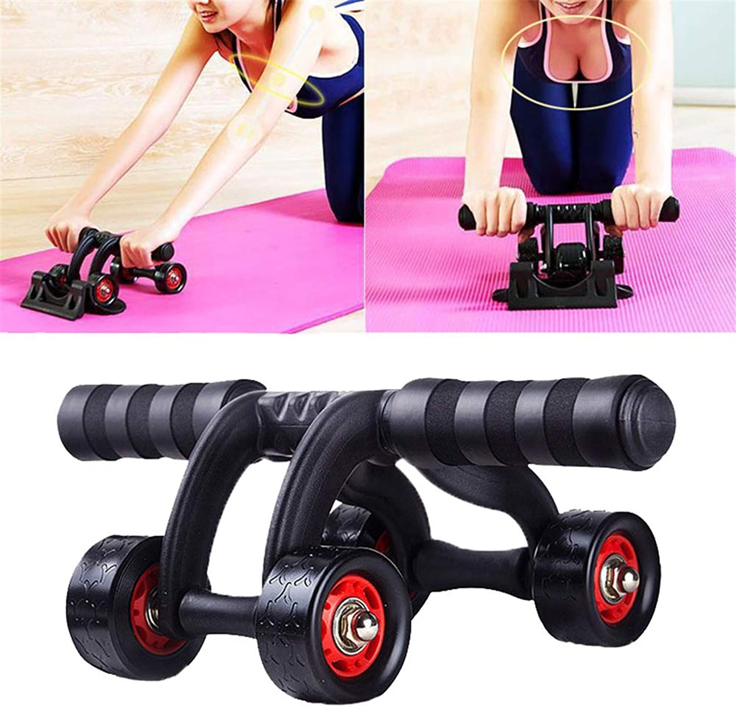Ab Wheel Fitness Equipment 4 Wheels Innovative Ergonomic Abdominal Roller Carving System - Home Gym Boxing Exercise Workout Equipment