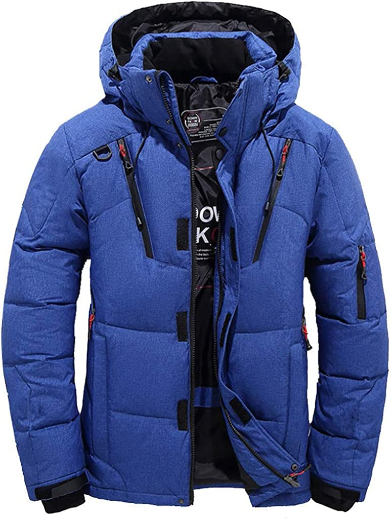 Men Casual Warm Hooded Outwear Jacke Trench Zipper Coat Lightweight Top Overcoat