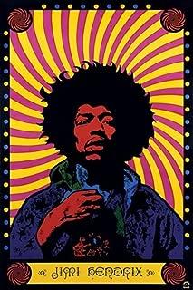 Pyramid America Jimi Hendrix Psychedelic Music Cool Wall Decor Art Print Poster 12×18