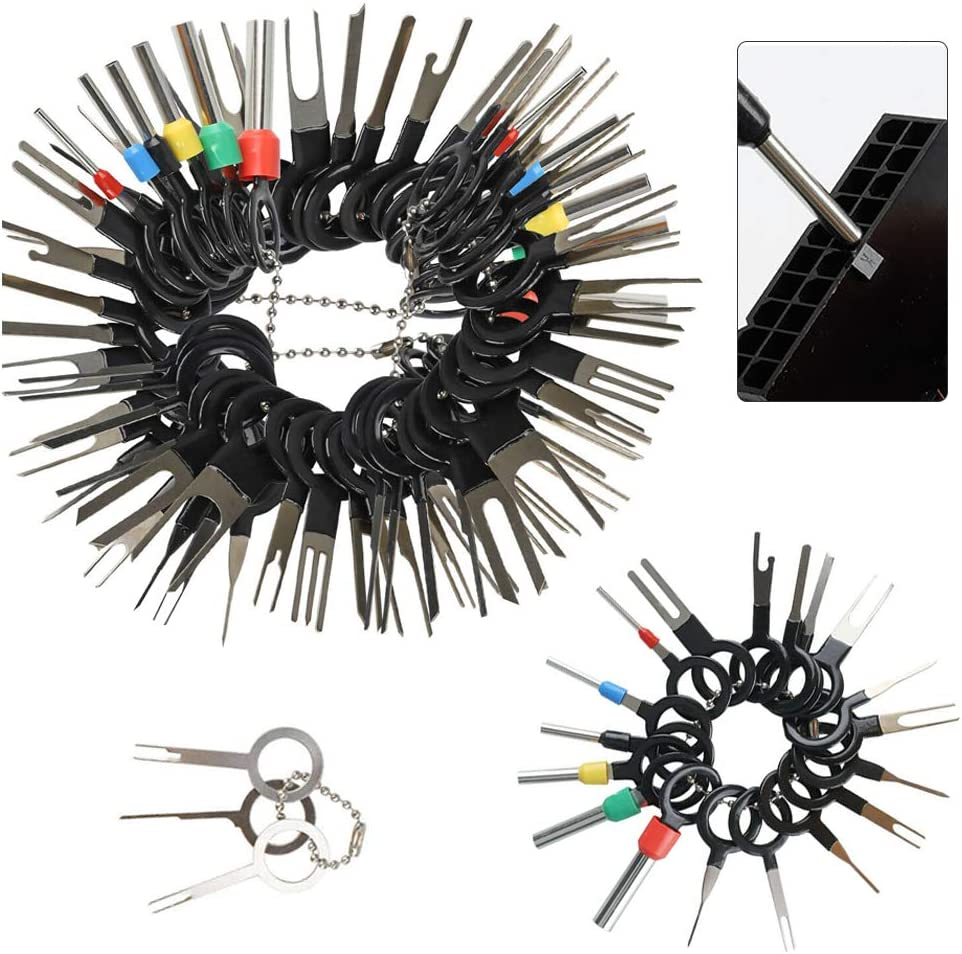 Terminal Removal Key Tool 70pcs 70//72//73//76pcs Wire Connector Terminal Pin Single Double Extractor Puller Repair Remover for Car Connector Household Devices