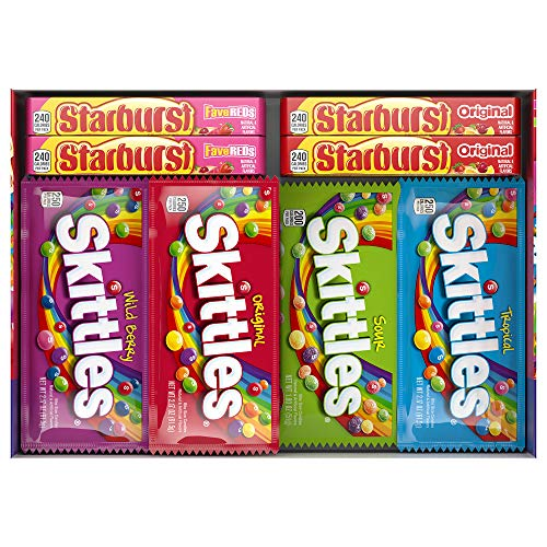 SKITTLES & STARBURST Candy Full Size Variety Mix 62.79-Ounce 30-Count Box