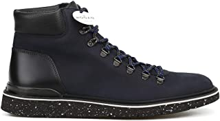 Luxury Fashion | Hogan Men HXM3920Z490JIF0XD5 Blue Leather Ankle Boots | Season Permanent