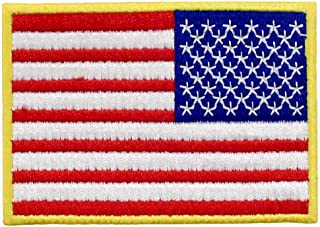 Reverse American Flag Embroidered Tactical USA Emblem United States Military Iron On Sew On Patch