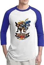Ratchet & Clank Childhood Heroes Mens Online 100% Cotton 3/4 Sleeve Athletic Baseball Raglan Sleeves T-Shirt