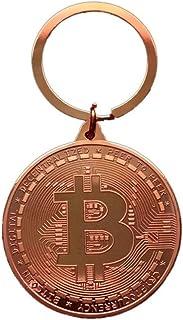 Bitcoin Sleutelhanger met munten, 4 cm, geschenk, portemonnee, crypto en etherium, dogecoin, licoin, grapartikelen, koperk...