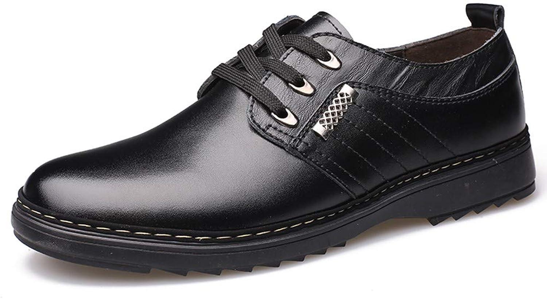AKJC Business shoes Men Black Handmade Men Dress shoes, Business Leather Men shoes, Casual Design Men Flats, Men Oxfords