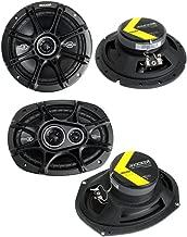 """$109 » 2) Kicker 41DSC674 6.75"""" 240W 2-Way + 2) 41DSC6934 6x9"""" 360W 3-Way Car Speakers"""