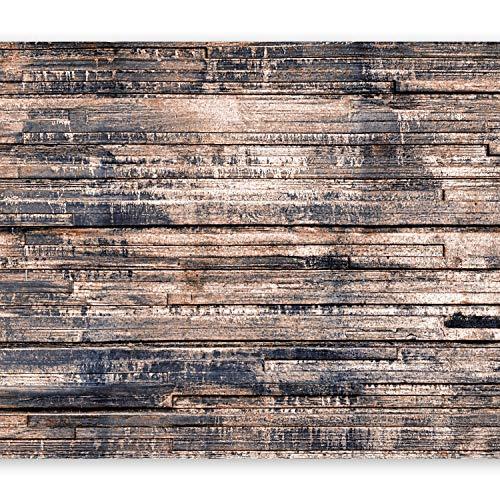 murando - Fototapete Holzoptik 350x256 cm Vlies Tapeten Wandtapete XXL Moderne Wanddeko Design Wand Dekoration Wohnzimmer Schlafzimmer Büro Flur Bretter braun f-A-0626-a-c
