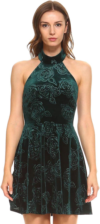 Teeze Me Womens Juniors Velvet Embossed Mini Dress