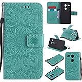 Jeewi Hülle für LG/Google Nexus 5X Hülle Handyhülle [Standfunktion] [Kartenfach] [Magnetverschluss] Tasche Etui Schutzhülle lederhülle flip case für LG Nexus 5X - JEKT031491 Grün