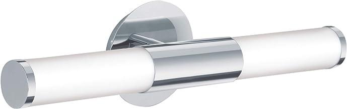 EGLO 87219 A++ tot E, wandlamp, staal, E14, chroom/wit, 46 x 11 x 11 cm