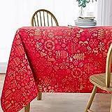Viste tu hogar Mantel con Hilo Dorado, 140 x 200 CM, Especial para Decoración de Hogar...
