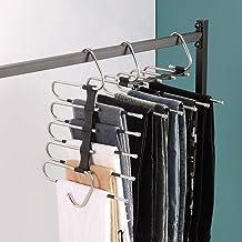Pants Hanger Scarf Skirt Ties Storage Clothing, Magic Hangers Space saving Organizing Wardrobe, Non slip stainless steel p...