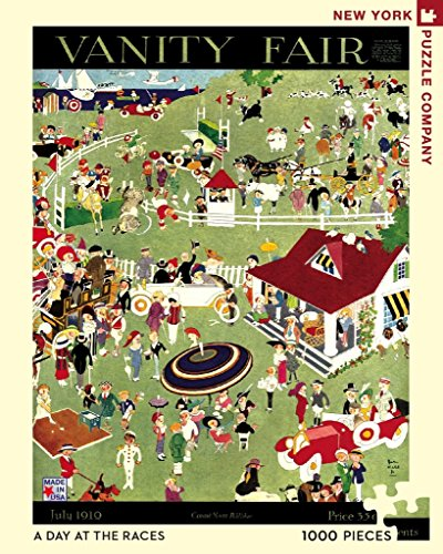New York Puzzle Company - Vanity Fair A Day at The Races - 1000 Piece...