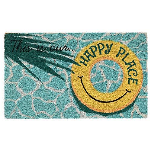 Wipe Your Sandy Feet Here Custom Last Name Floor Mat 24x36 inches VictoryStore Home Accessories Custom Beach Door Mat