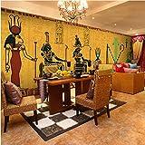 Ponana Fotomural Personalizado Antiguo Egipcio Mural Mural Restaurante Bar Yoga Club De Salud Sofá Fondo De Pared Papel Tapiz Mural M-450X300Cm