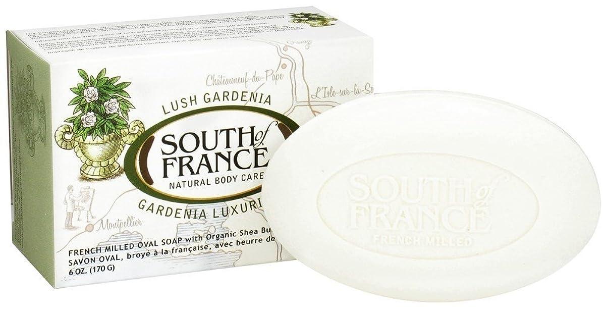愛国的な狂った章海外直送品South Of France Soaps Milled Bar Soap Gardenia, 6 oz