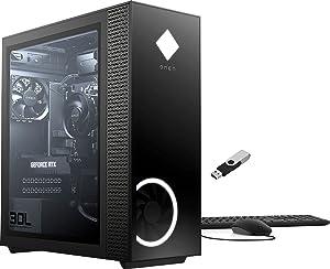 2021 HP OMEN 30L Gaming Desktop AMD Ryzen 5 5600G 6-Core CPU NVIDIA GeForce RTX 3060 (12GB GDDR6) 16GB XMP RGB Lighting DDR4 1TB SSD Tempered Glass Side Panel w/Ontrend 32GB USB Drive