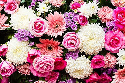 DesFoli Blumen Blumenstrauß Rosé Pink Poster Kunstdruck Fotoposter P2244 Größe 30 cm x 20 cm